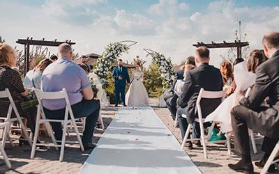 Оформление свадьбы цветами в Днепре